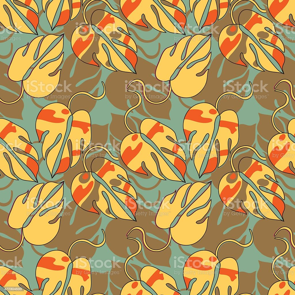 decorative orange pattern royalty-free stock vector art