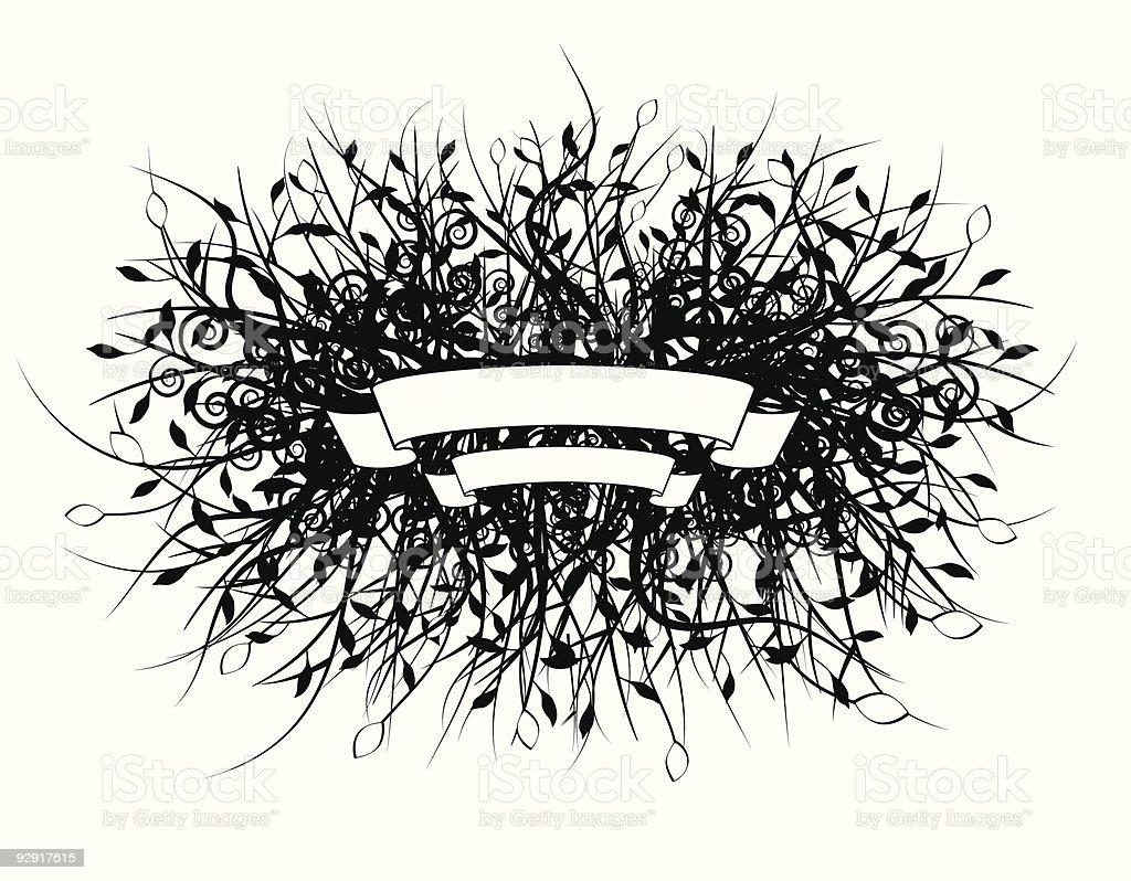 Decorative organic banner (vector & jpeg) royalty-free stock vector art