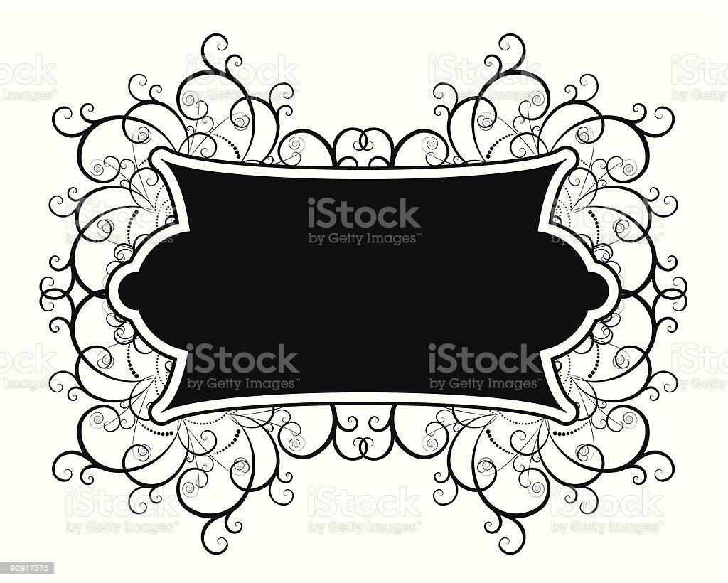 Decorative organic design ornament (vector & jpeg) royalty-free stock vector art