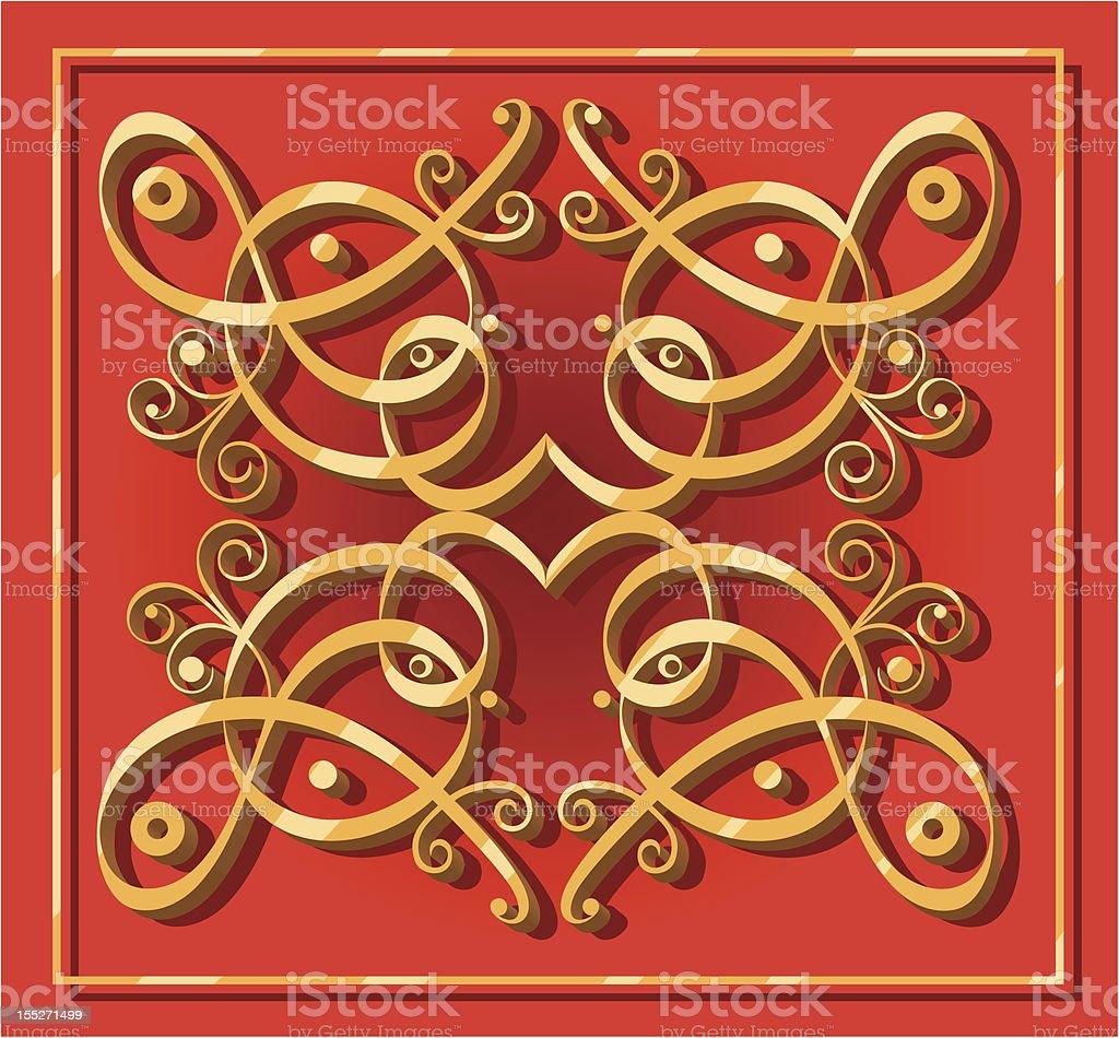 decorative oriental element royalty-free stock vector art