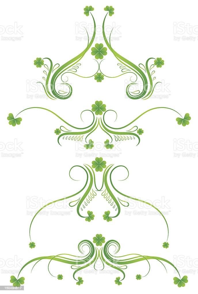 decorative ornament for Patrick's day royalty-free stock vector art