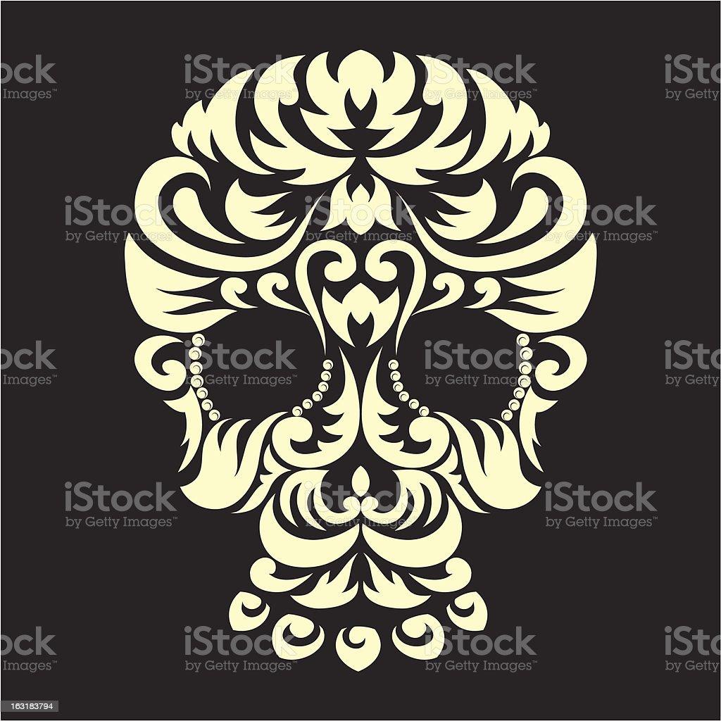 Decorative Ornament Skull royalty-free stock vector art
