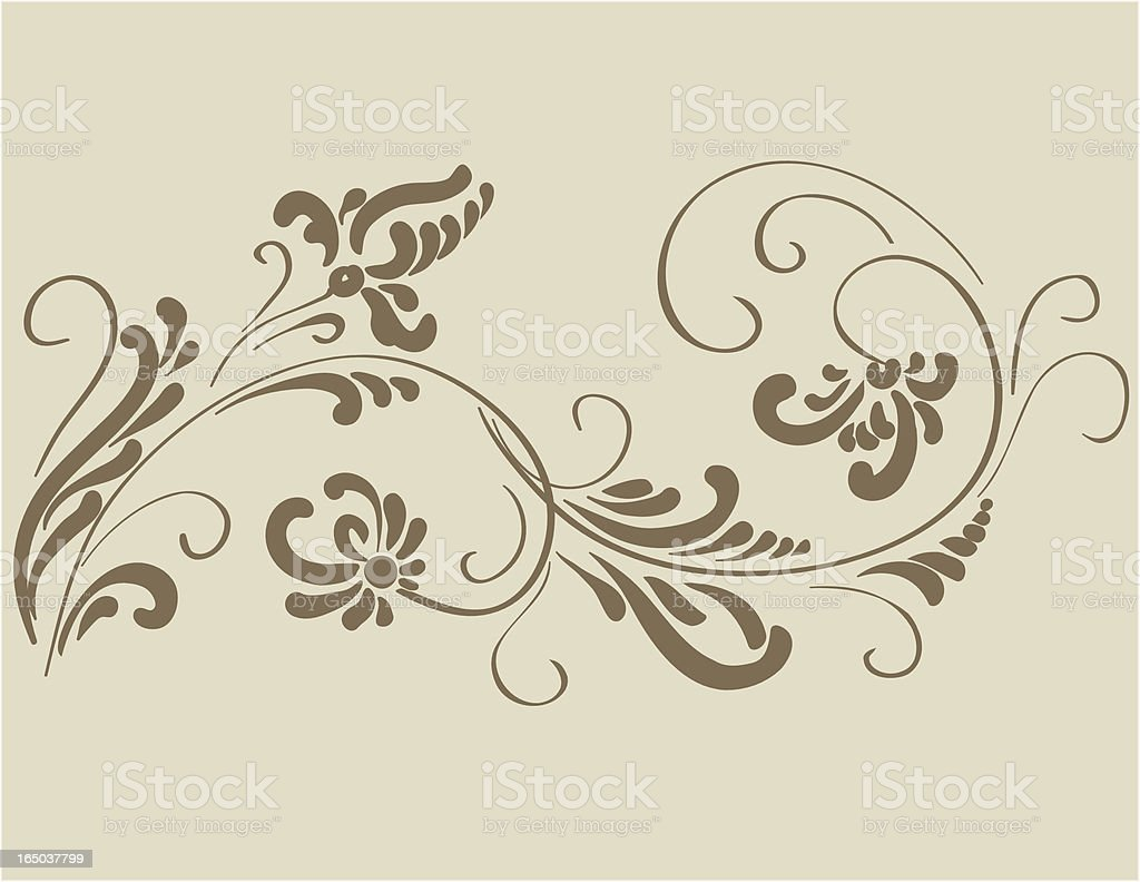Decorative ornament #323, Vector royalty-free stock vector art