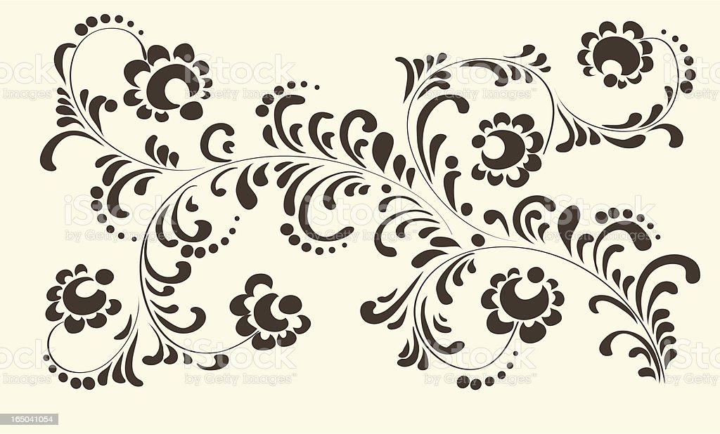 Decorative ornament, Vector royalty-free stock vector art