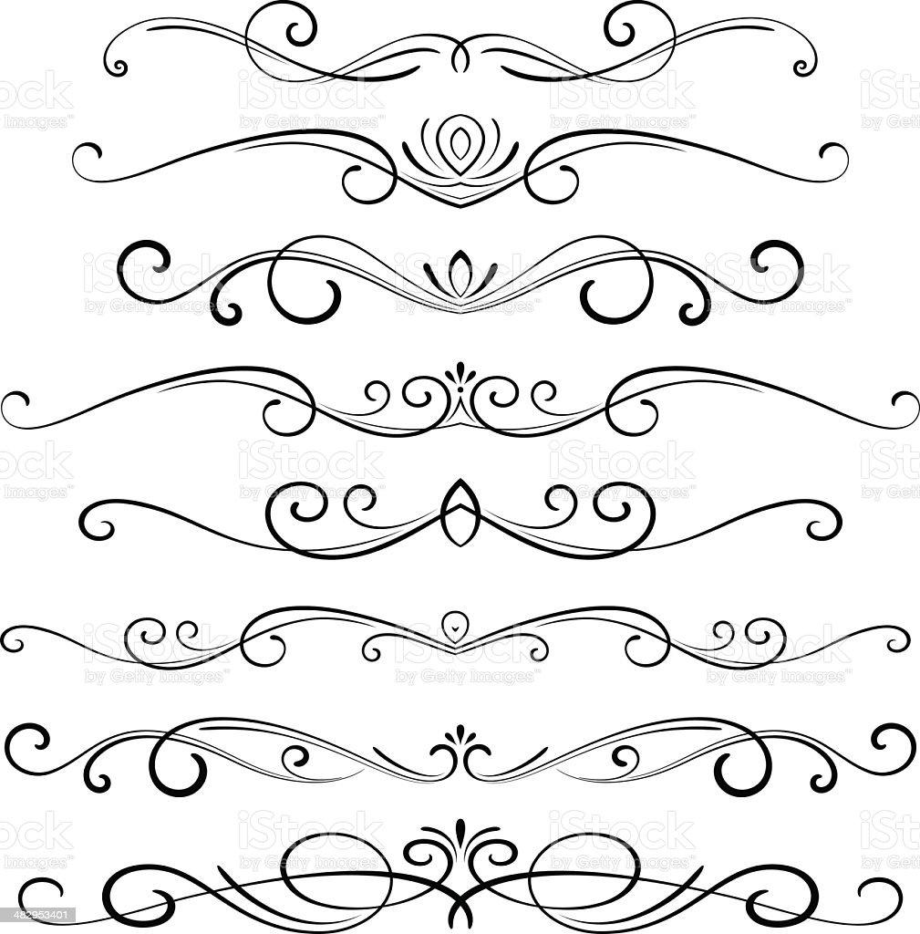 Decorative Ornaments vector art illustration