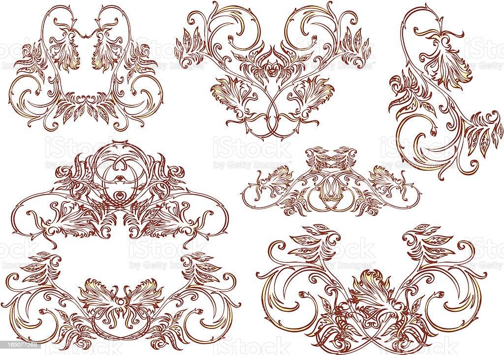 Dekorativen Ornamenten-retro-styles Lizenzfreies vektor illustration