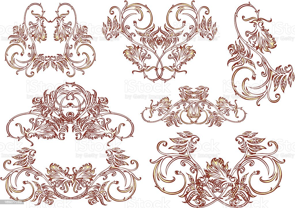 decorative ornaments-retro styles royalty-free stock vector art