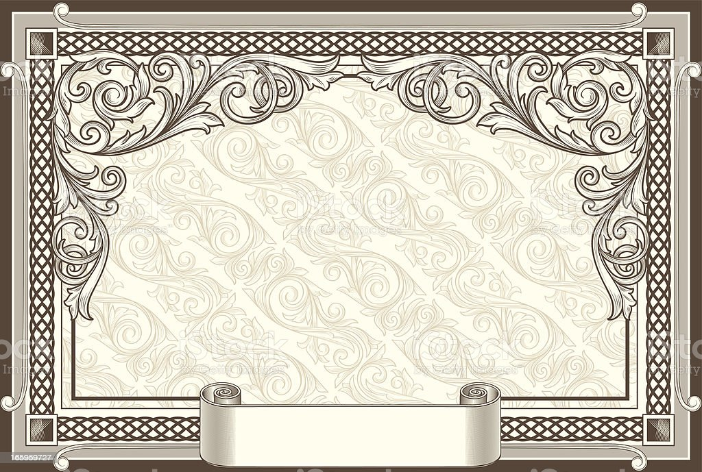 Decorative ornate blank royalty-free stock vector art