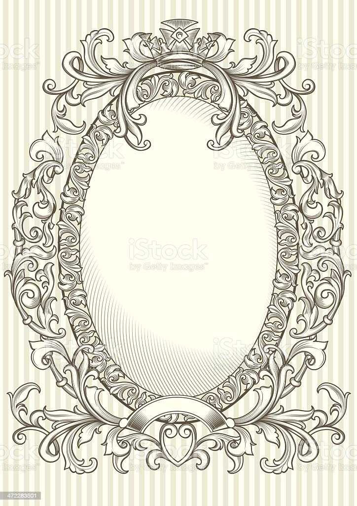 Decorative oval frame royalty-free stock vector art