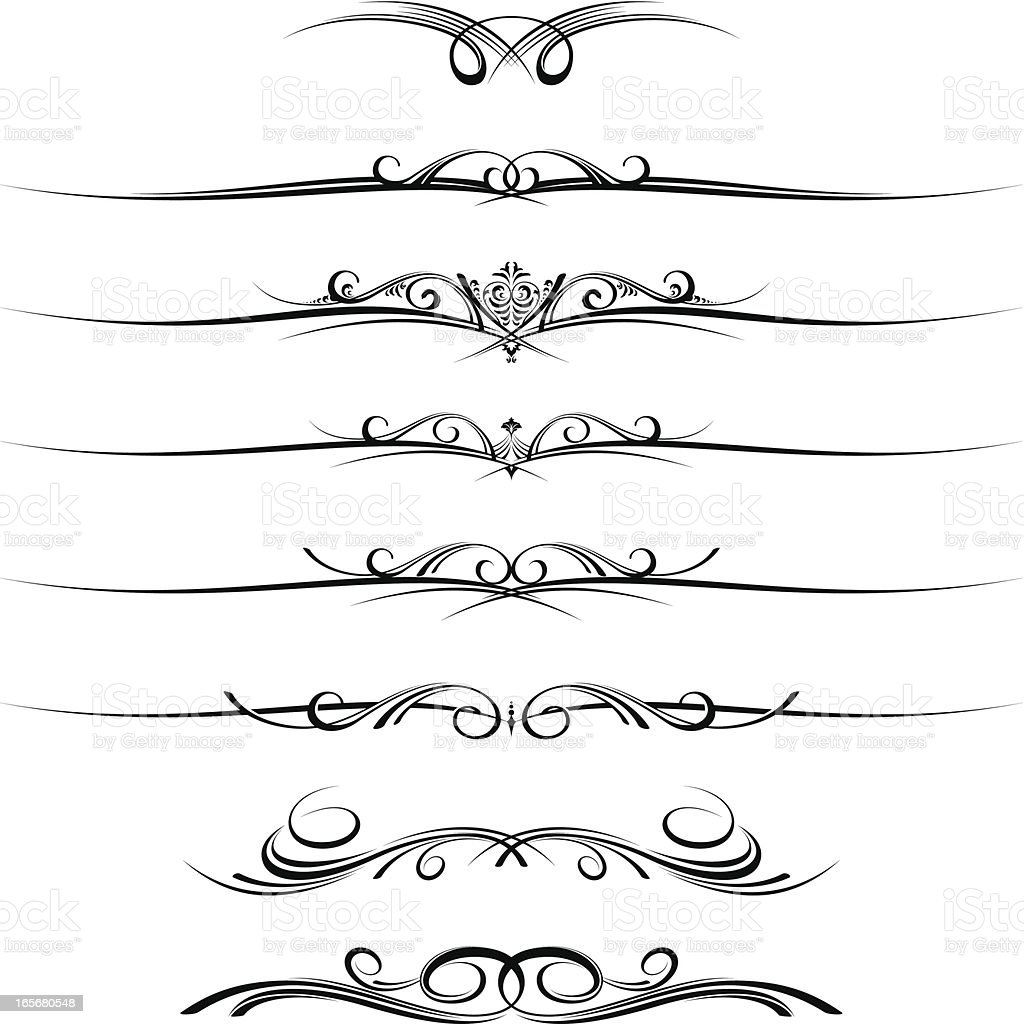 Decorative page dividers royalty-free stock vector art