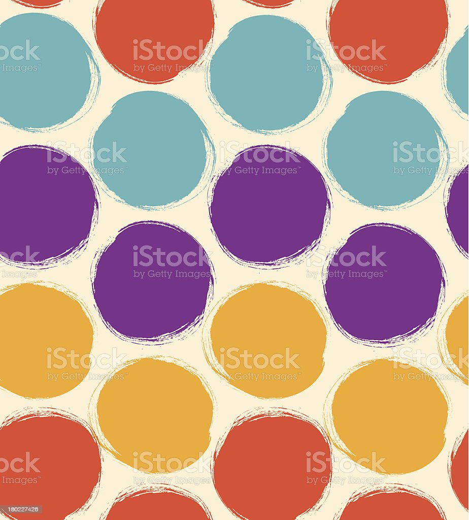 Decorative paint pattern  Artistic seamless background royalty-free stock vector art