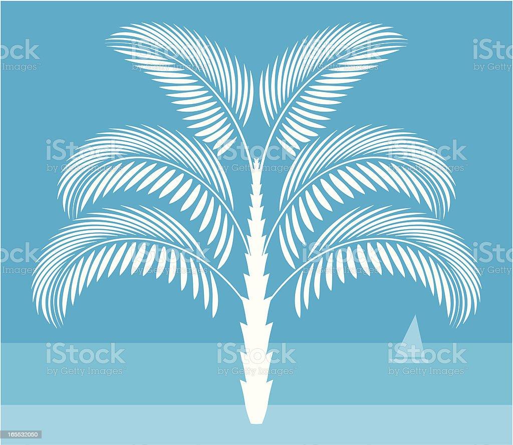 Decorative Palm tree royalty-free stock vector art