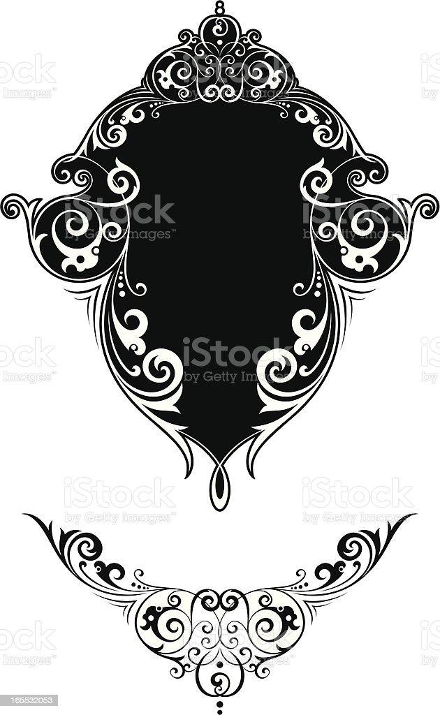 Decorative panel and centre scroll royalty-free stock vector art