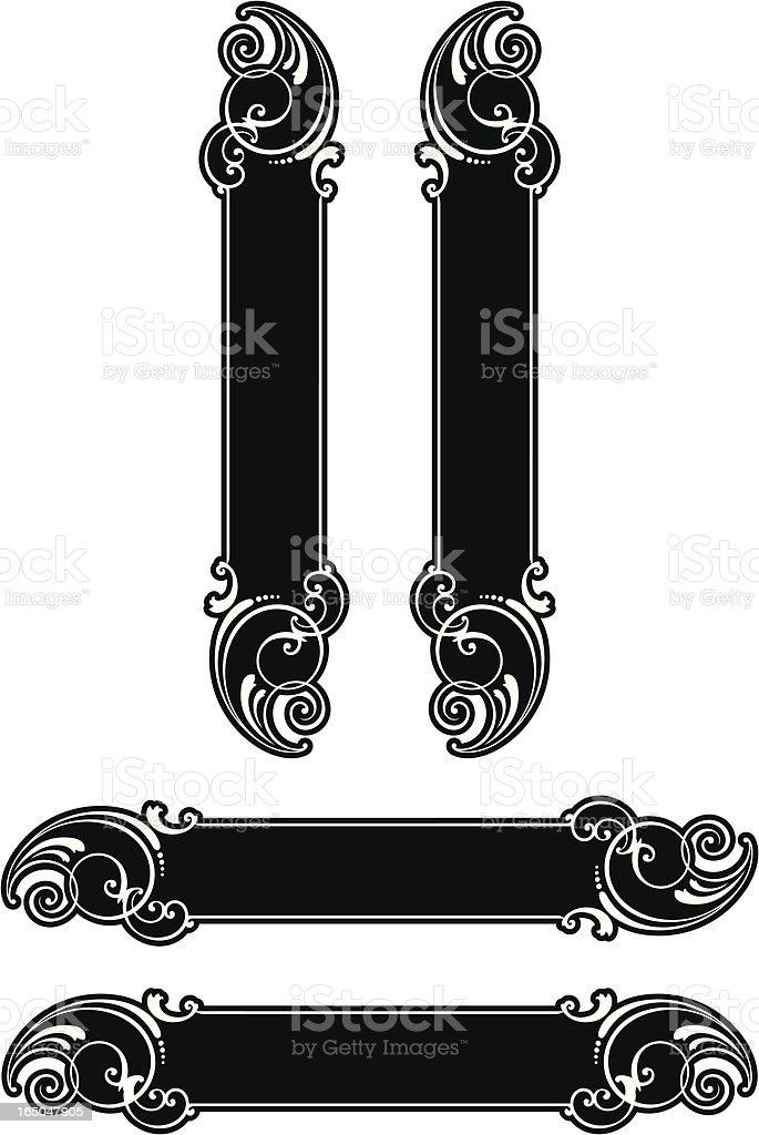 Decorative Panels royalty-free stock vector art