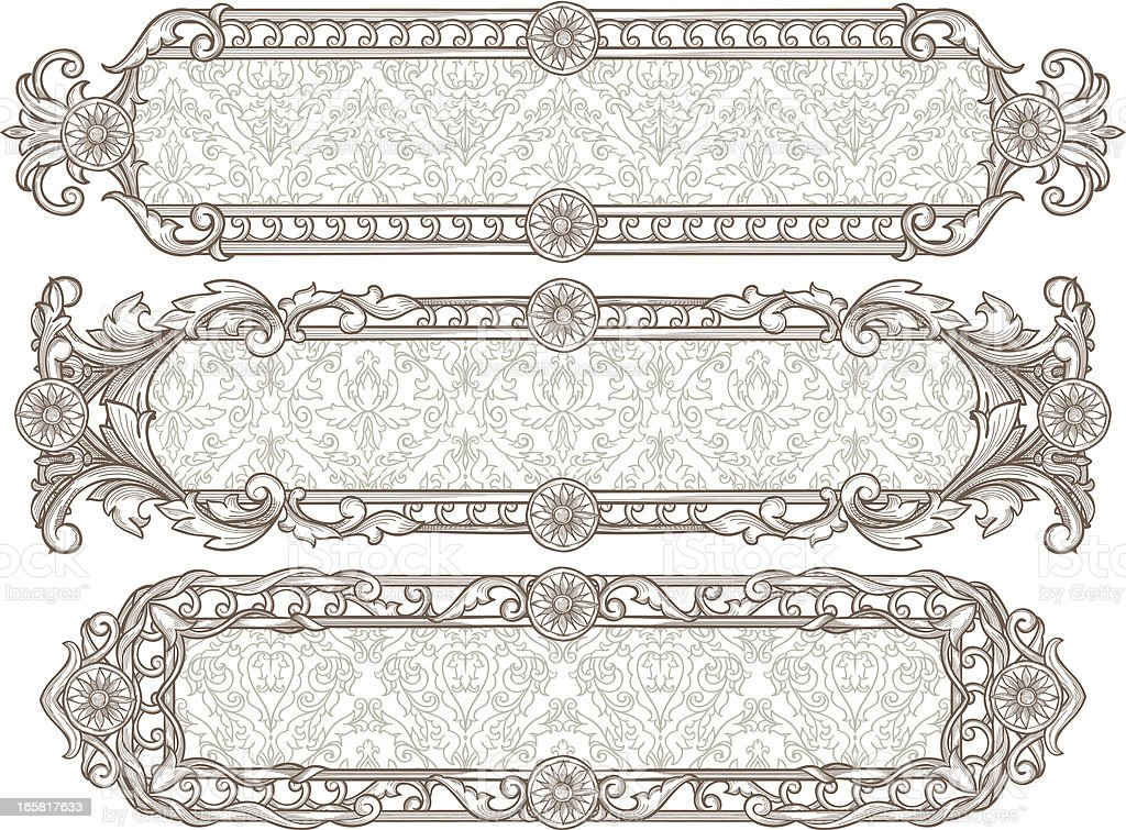 Decorative panels royalty-free stock vector art