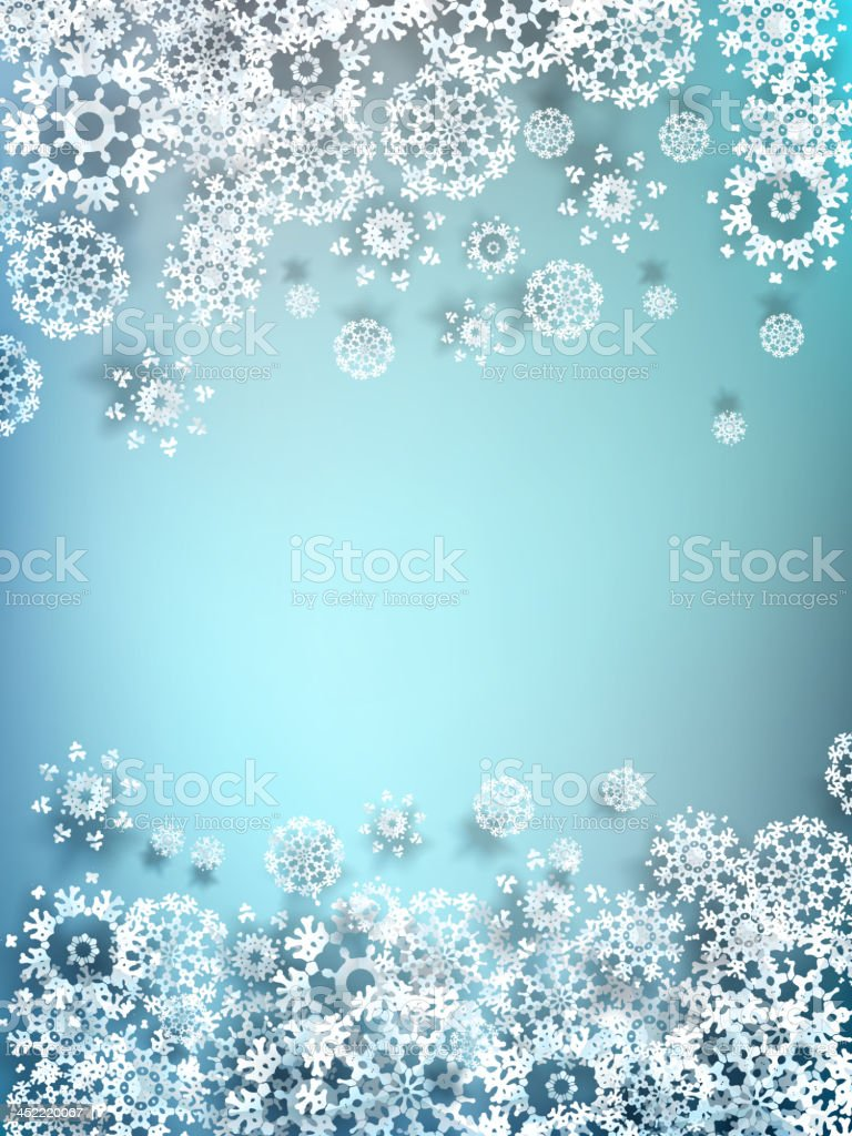 Decorative paper snowflake background. EPS 10 royalty-free stock vector art