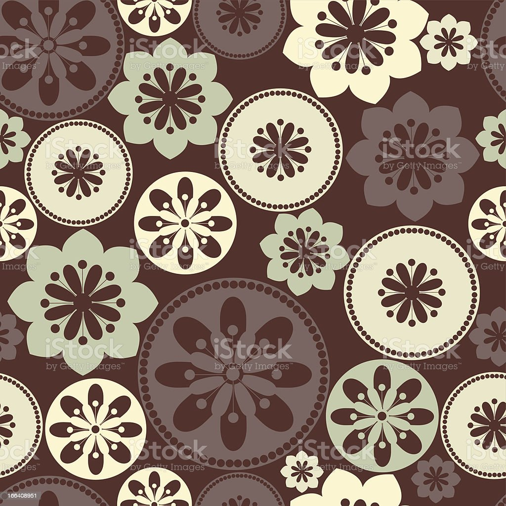 Decorative pattern with ornamental floral silhouettes. royalty-free stock vector art