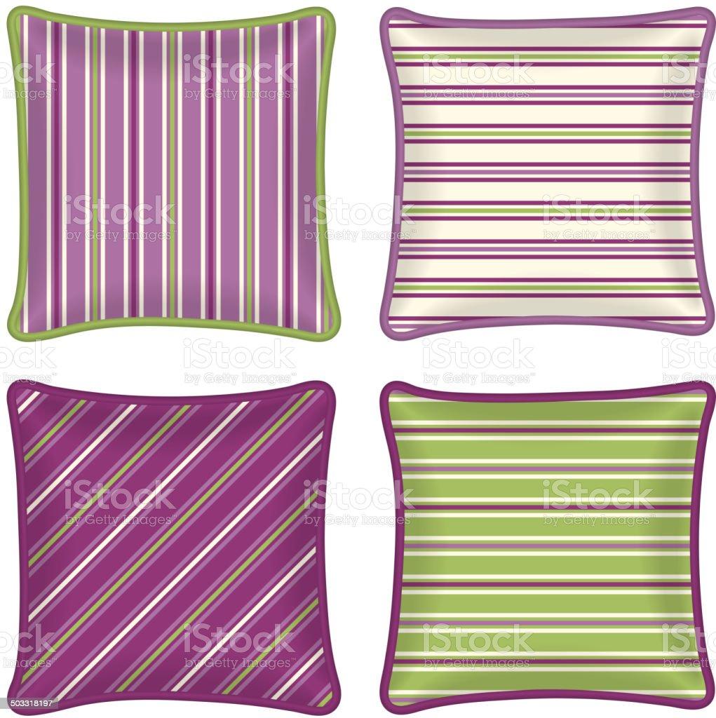 Decorative pillows vector art illustration
