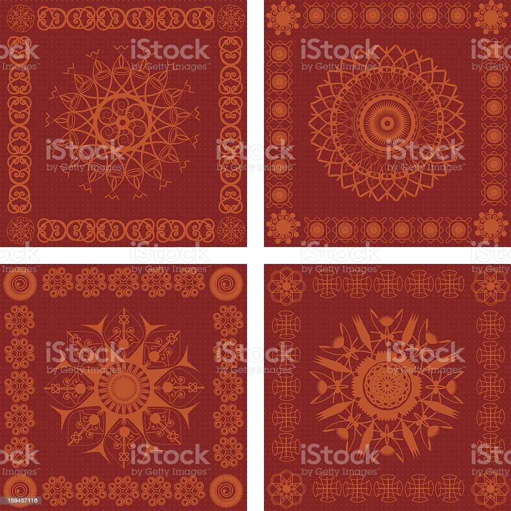 Decorative Quilt Squres royalty-free stock vector art