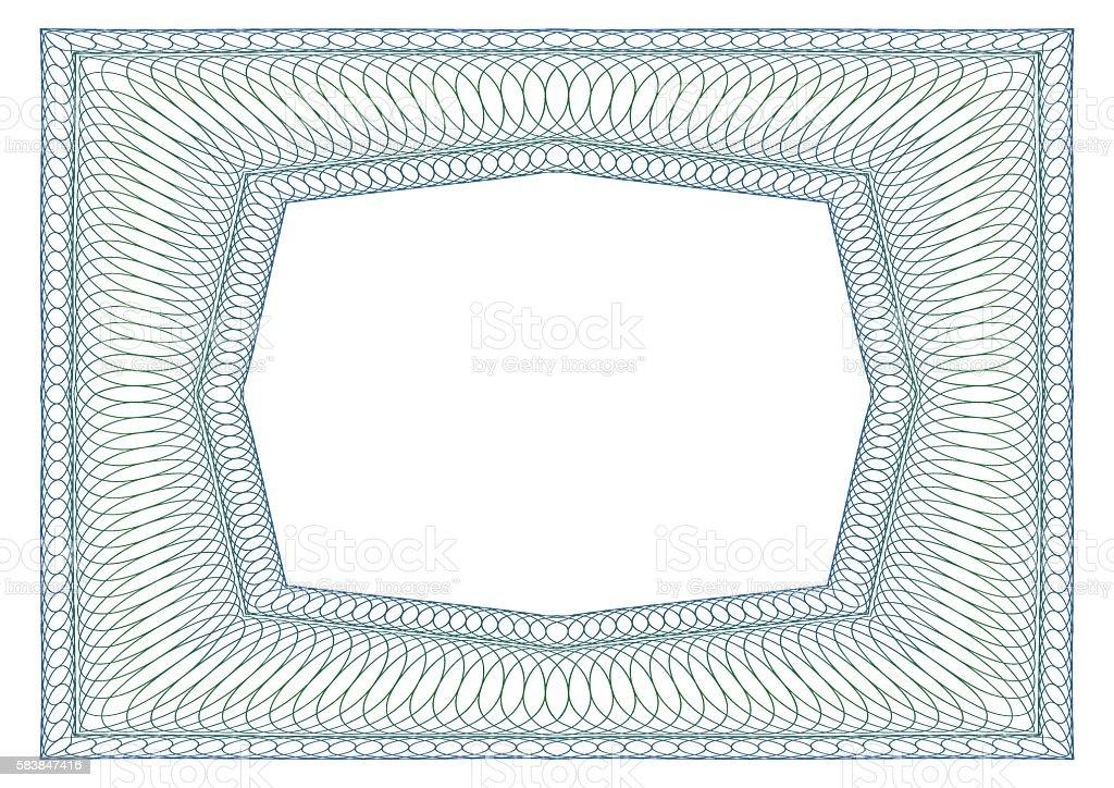 Decorative rectangular frame vector art illustration