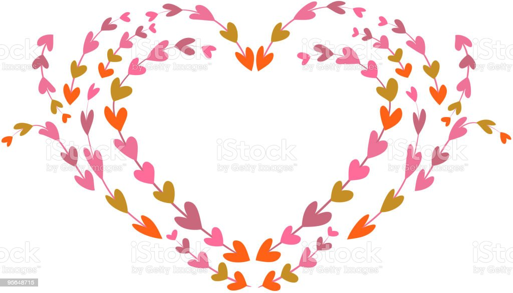 decorative retro frame of heart royalty-free stock vector art