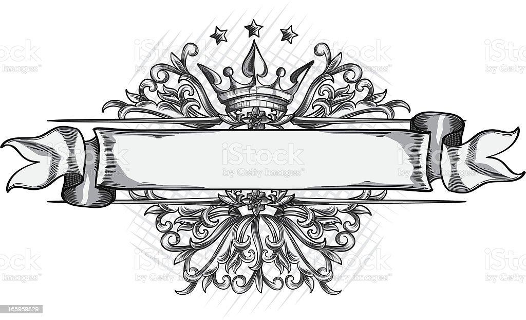 Decorative ribbon vector art illustration