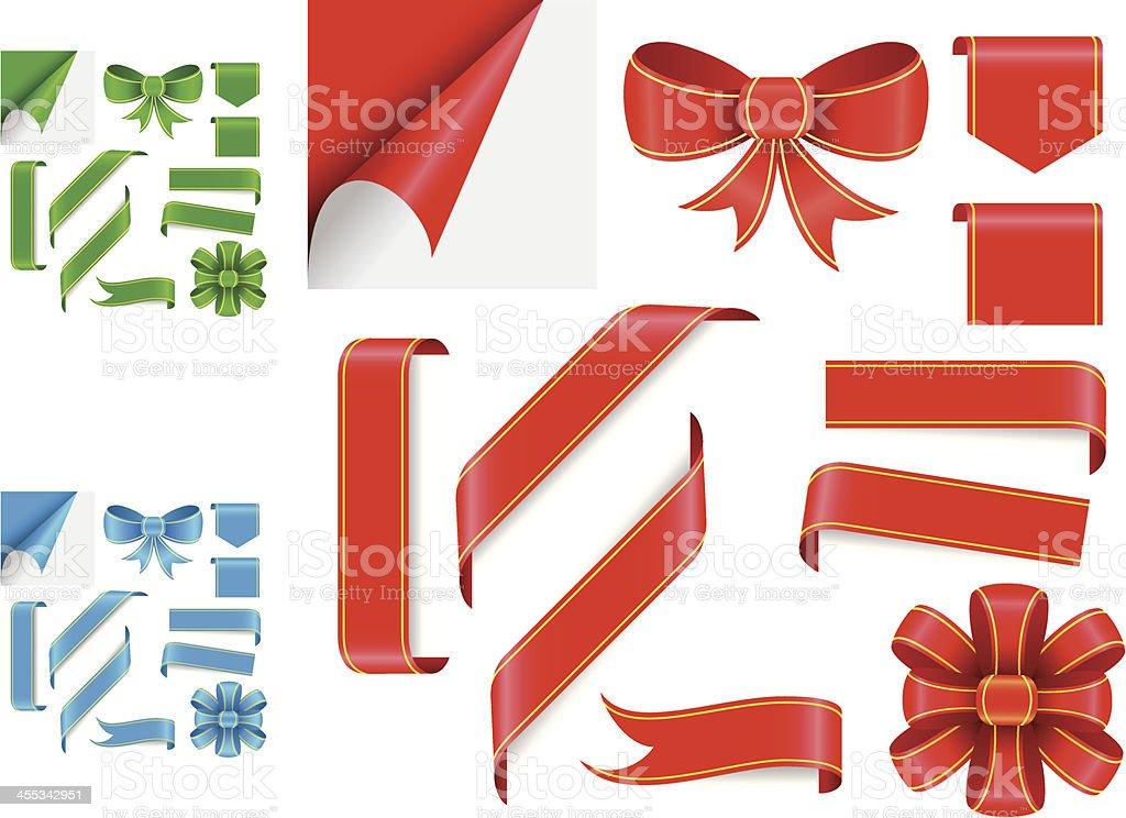 Decorative ribbons royalty-free stock vector art