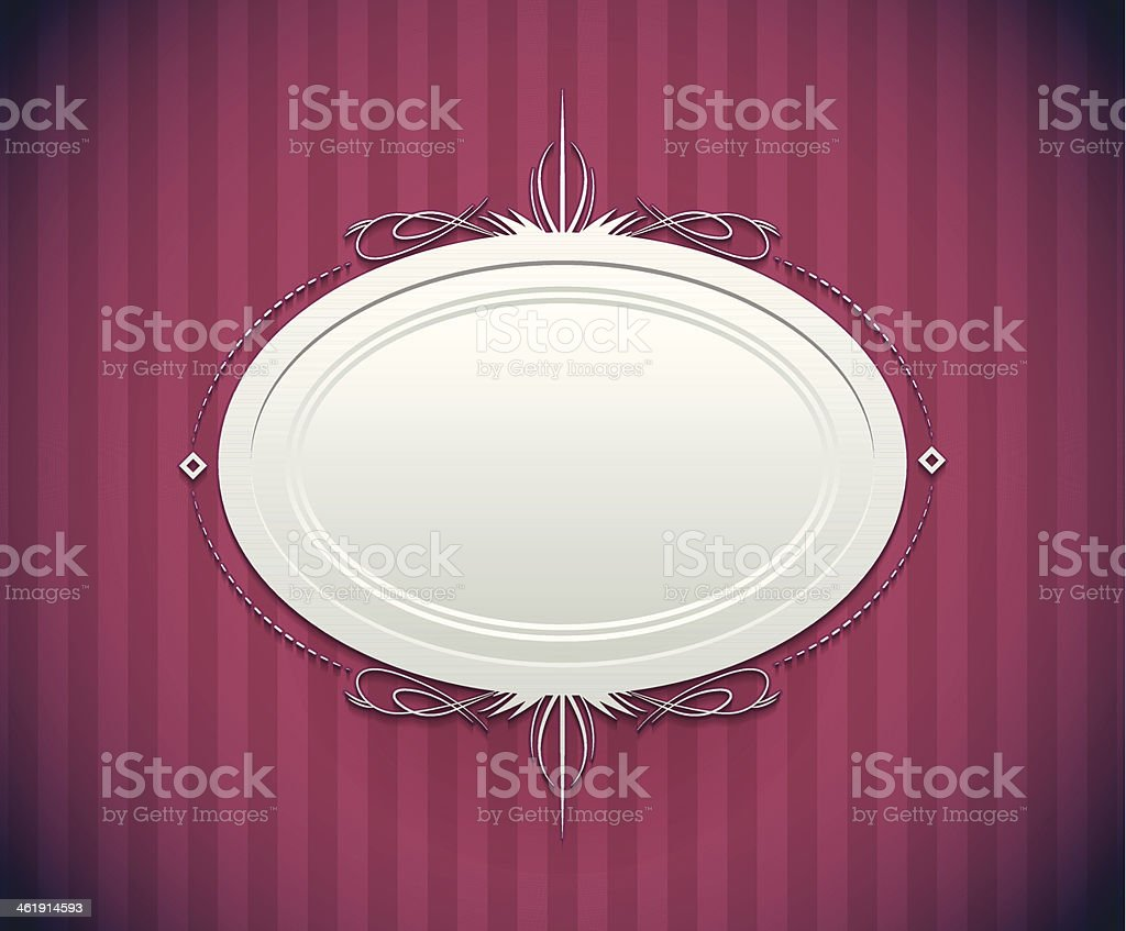 Decorative round frame royalty-free stock vector art