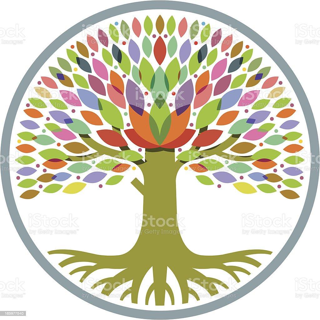 Decorative round tree royalty-free stock vector art