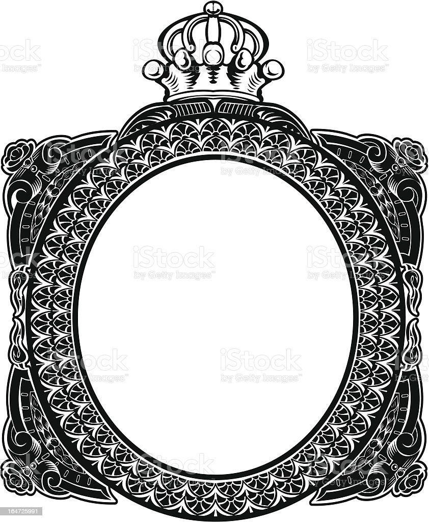 Decorative Royal Oval Vintage Frame royalty-free stock vector art