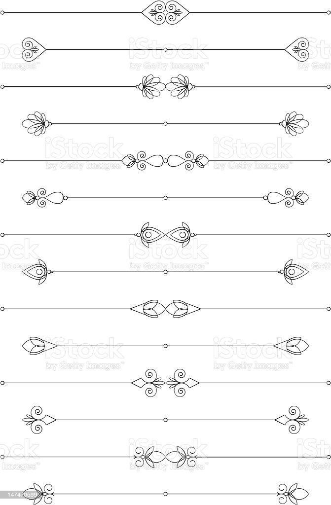 Decorative Rules royalty-free stock vector art
