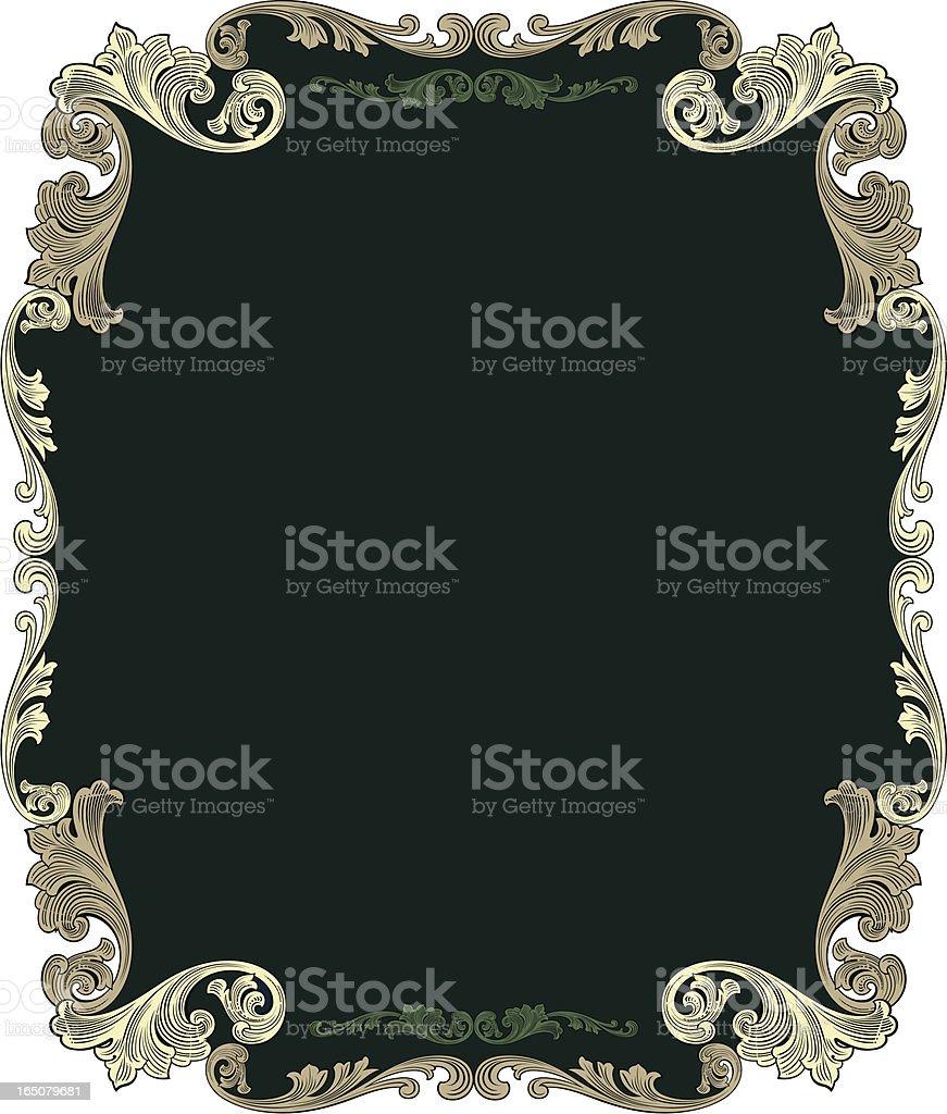 Decorative Scroll Panel vector art illustration