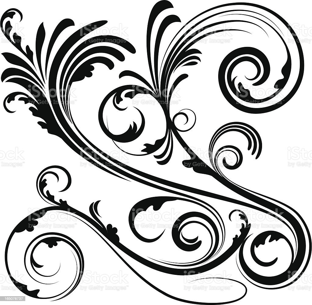 Decorative scroll stock vector art 165078737 istock for Decorative scrollwork