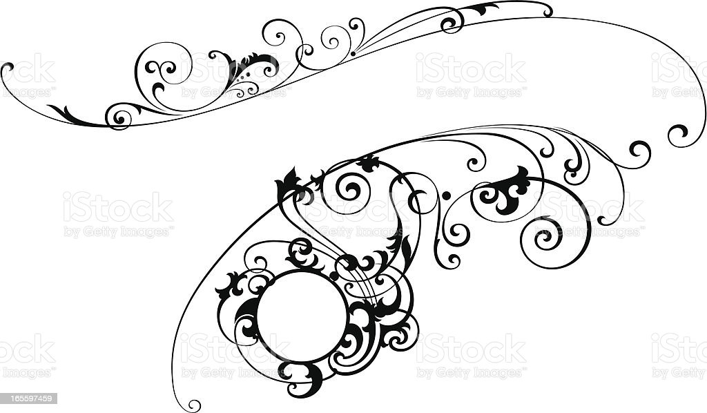 Decorative Scroll royalty-free stock vector art