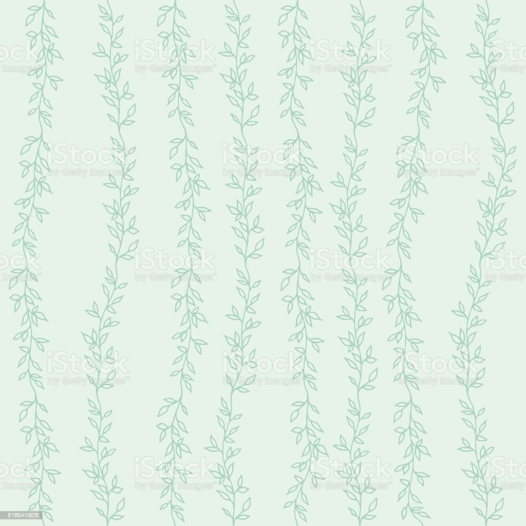 Decorative seamless background vector art illustration