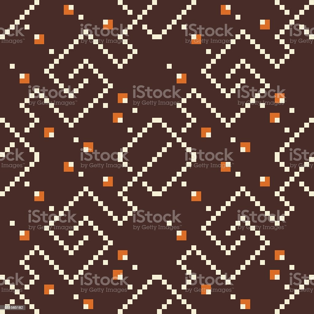 Decorative Seamless Pattern Brown, Orange vector art illustration