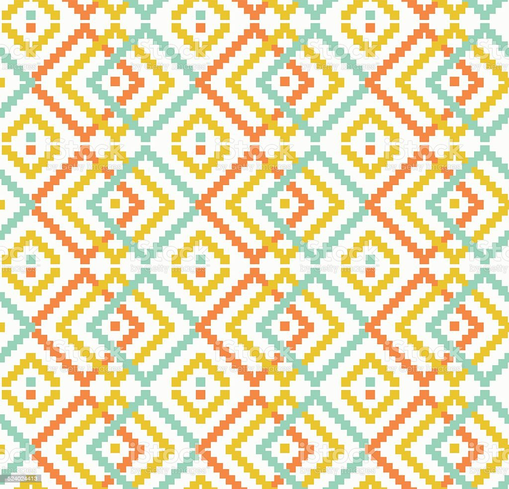 Decorative seamless texture in traditional bright colors vector art illustration
