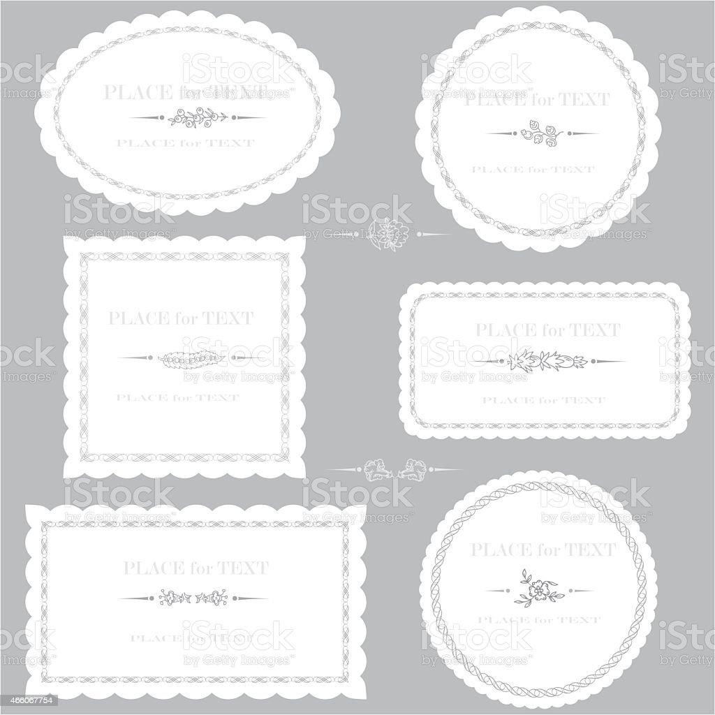Decorative serviette vector art illustration