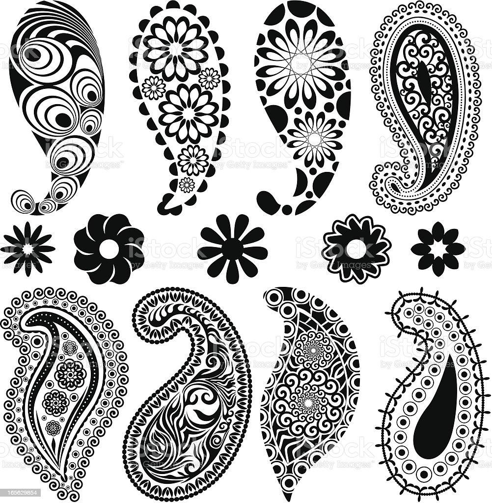 Decorative set vector art illustration