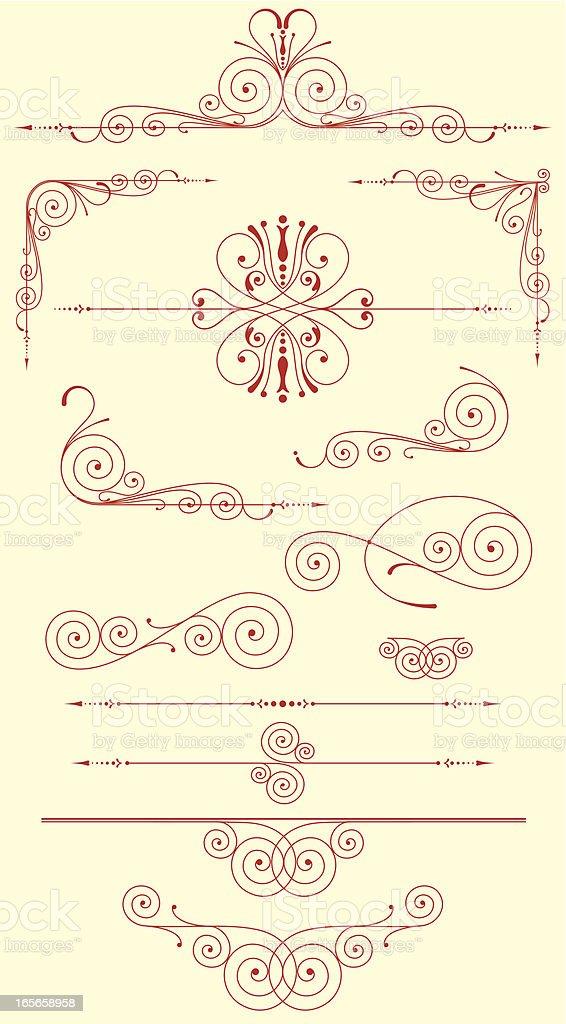 Decorative Set royalty-free stock vector art