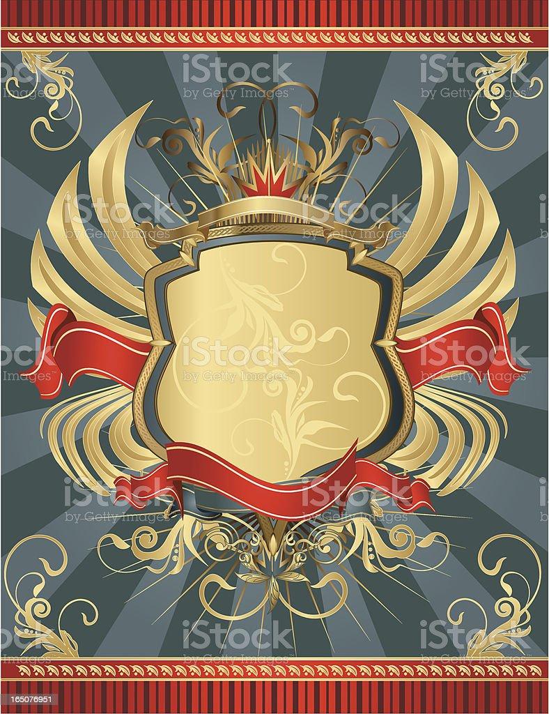 Decorative Shield royalty-free stock vector art