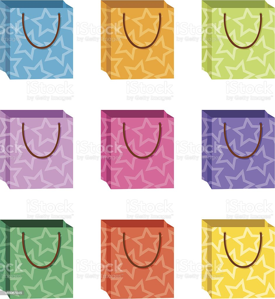 Decorative Shopping Bags royalty-free stock vector art