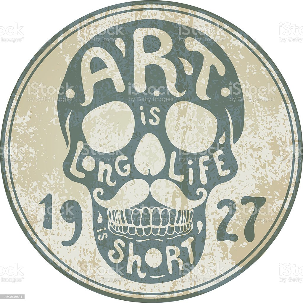 decorative skull royalty-free stock vector art