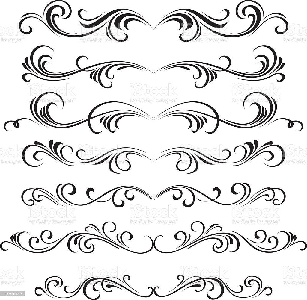 Decorative swirl royalty-free stock vector art