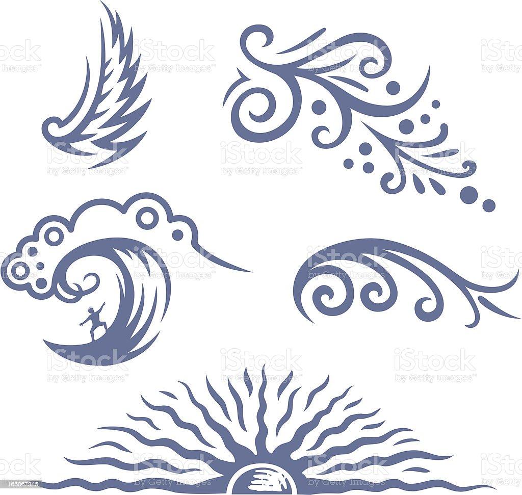 Decorative symbols royalty-free stock vector art