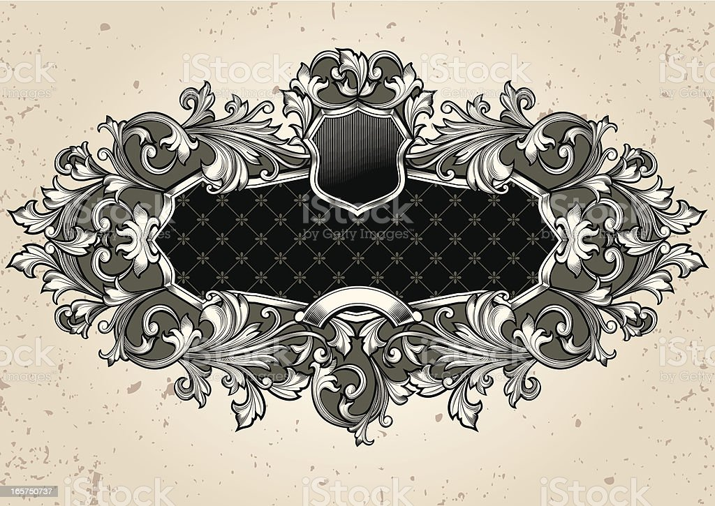 Decorative tag royalty-free stock vector art