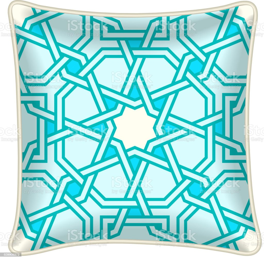 Decorative throw pillow vector art illustration