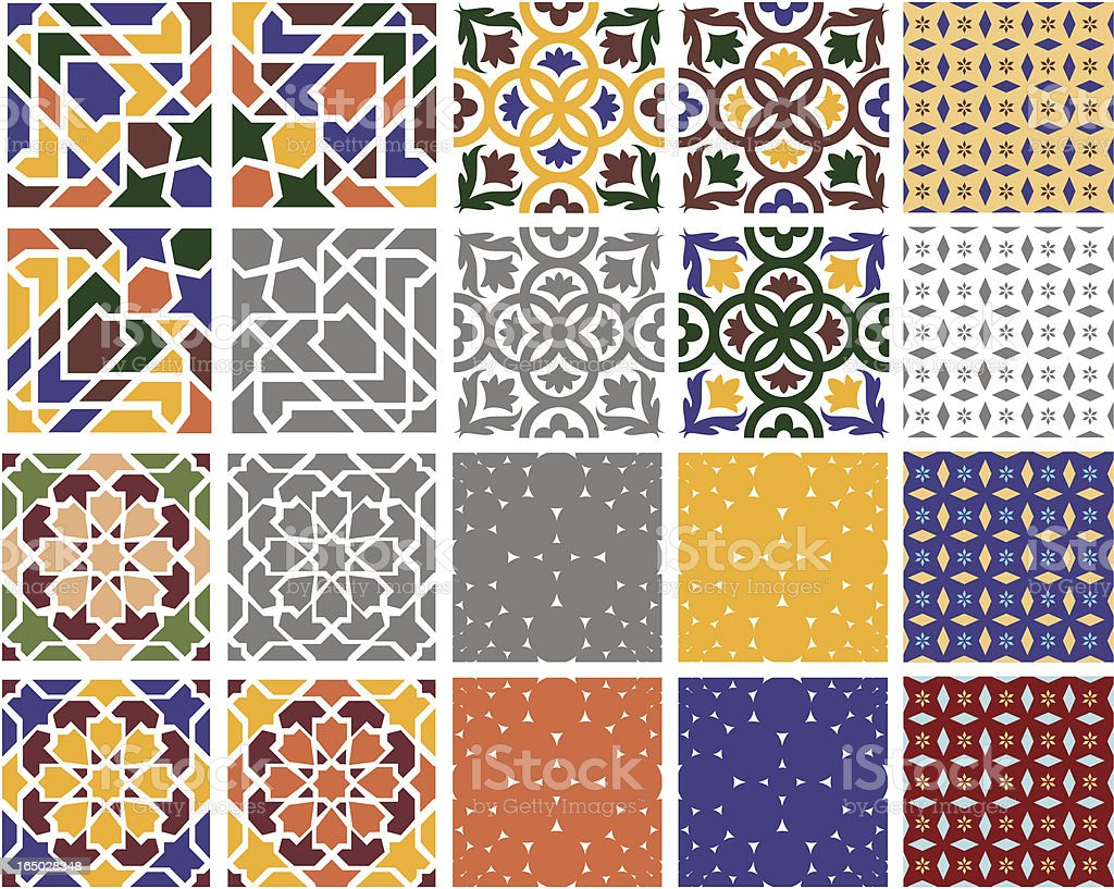 Decorative Tiles (vector) vector art illustration