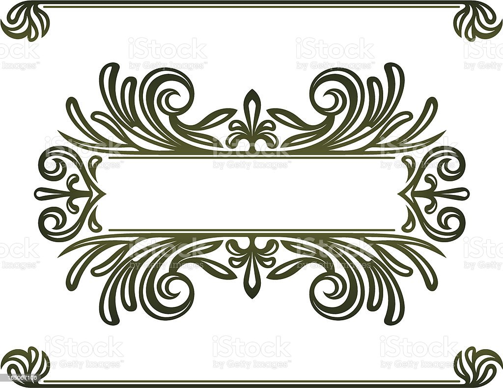 Decorative Titling Elements royalty-free stock vector art