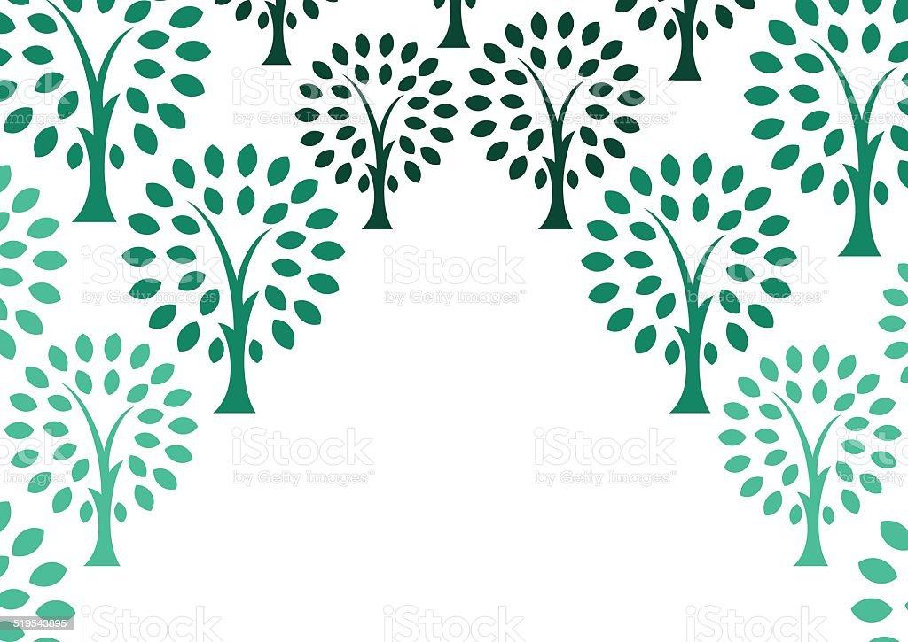 Decorative tree background vector art illustration